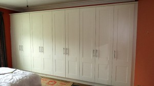 white bedroom fitted wardrobes