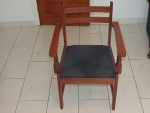 french polished chair