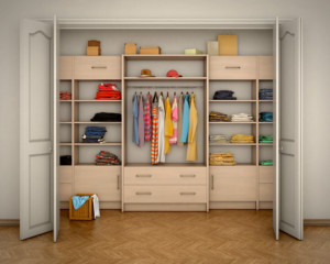 Walk-in Wardrobes image by Vipman (via Shutterstock).