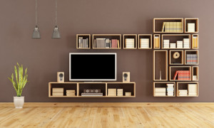 Custom Bookcase Modern Home