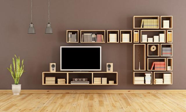 Custom Bookcase Modern Home